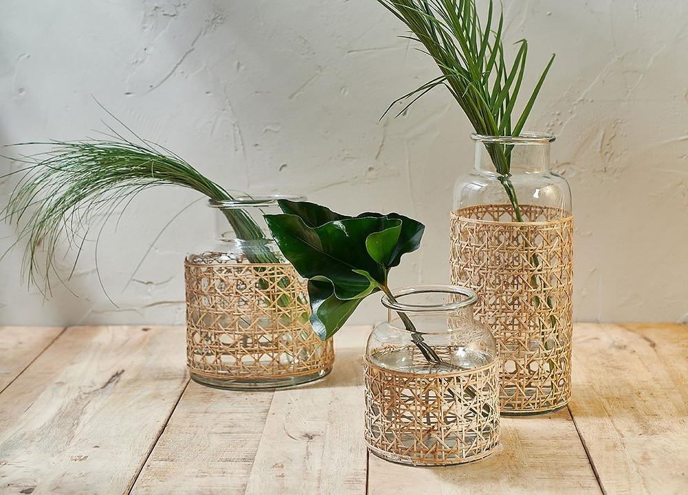 natural cane vase for bathroom plants in low light