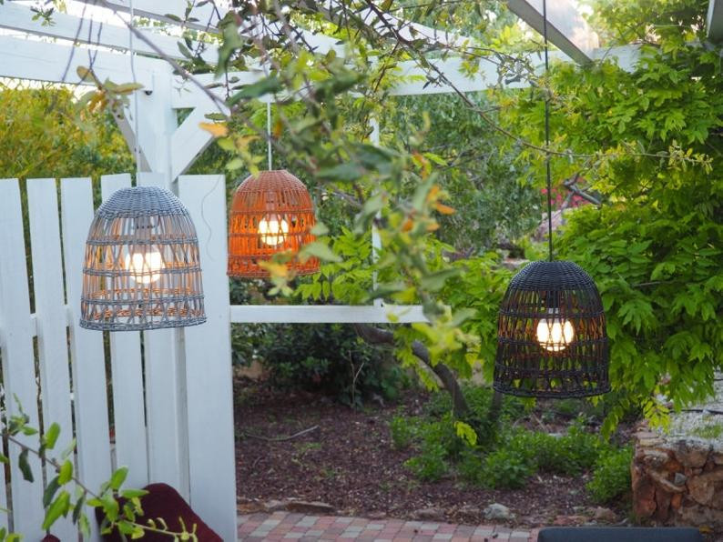 Outdoor light suspensions in variety of colours