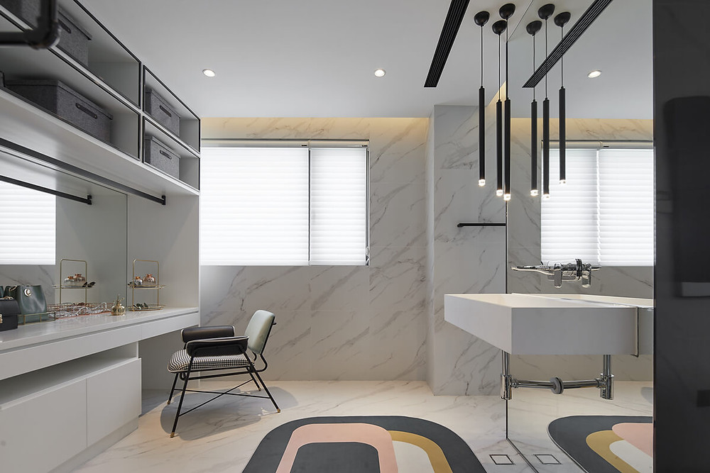 Modern minimalist bathroom JEMO design
