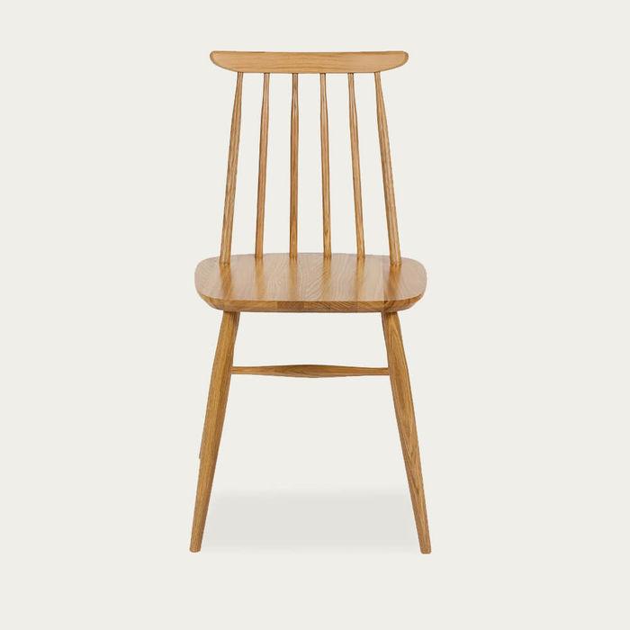 Japandi style oak chair