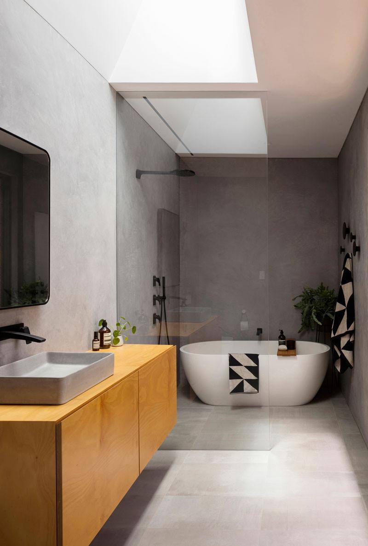 concrete bathroom interior trend