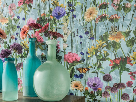 Add Personality to Your Room With A Floral Wallpaper Accent Wall