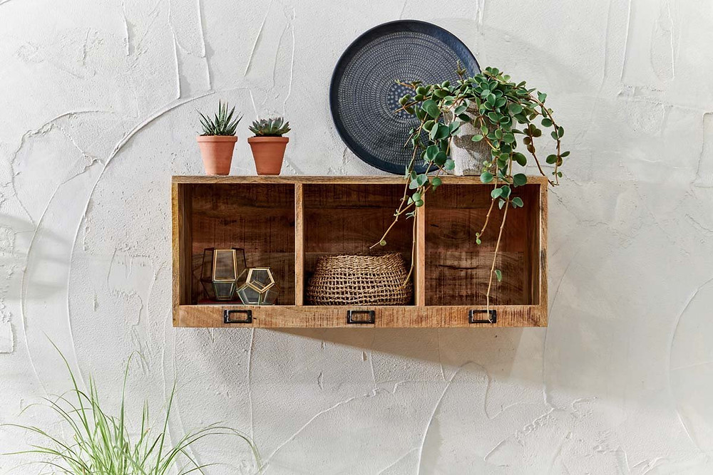 Wooden Wall shelving for flowers