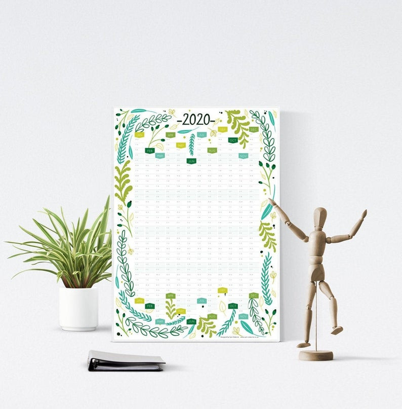 floral beautiful wall calendar diy