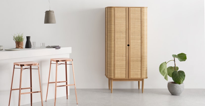 Rattan cabinet, natural furniture for relaxing vibes at home