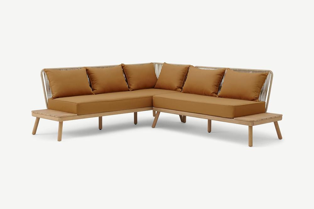 Garden Corner Lounge Set in Soft Terracotta colour