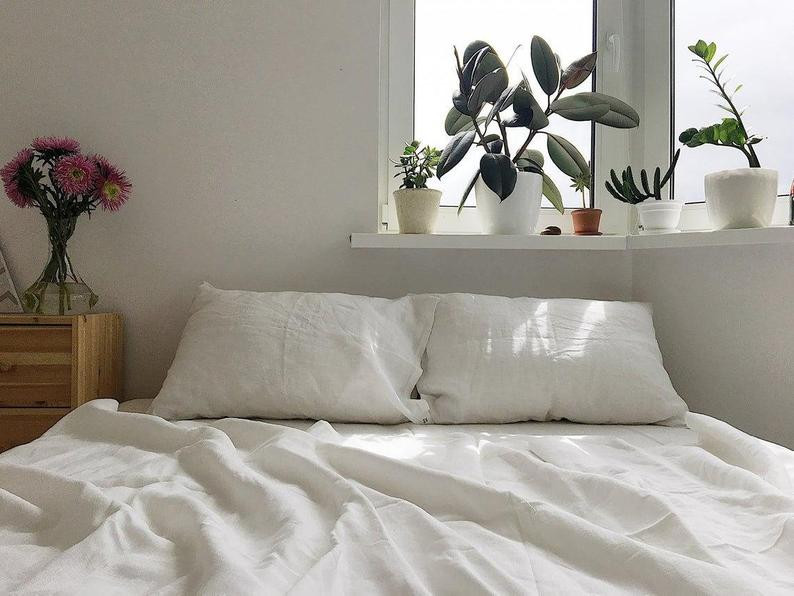 Organic Eco Friendly white linen by Organic Eco Style. Click the image to get yours from the maker