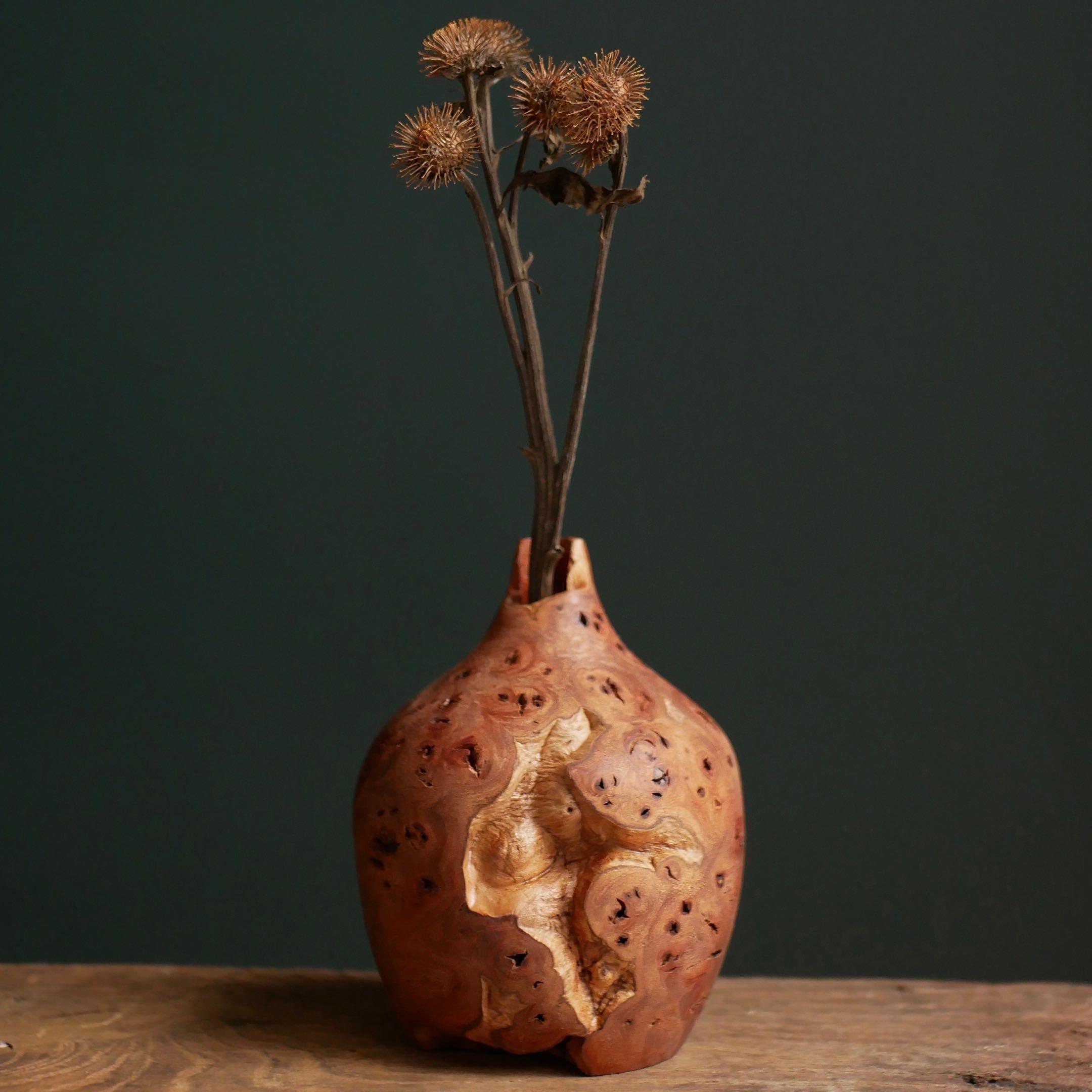 Handmade Wooden Vase
