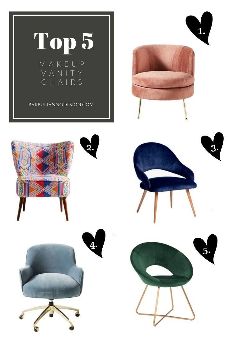 top 5 makeup vanity chairs