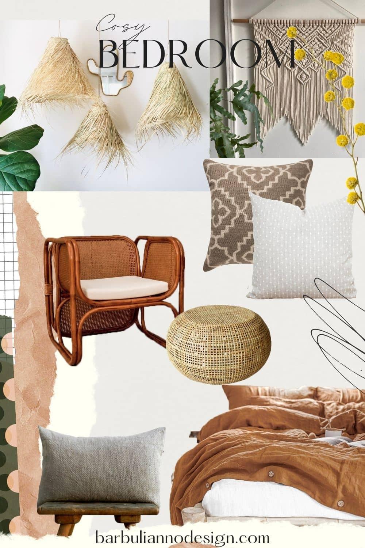 Boho cosy bedroom decor