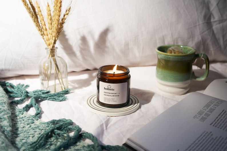 Handmade Autumn Scented Soy Wax Candle
