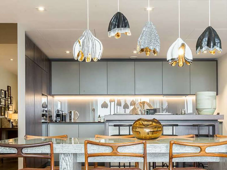 kitchen design with modern led lighting example