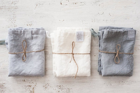 Washed Natural Eco friendly linen towels