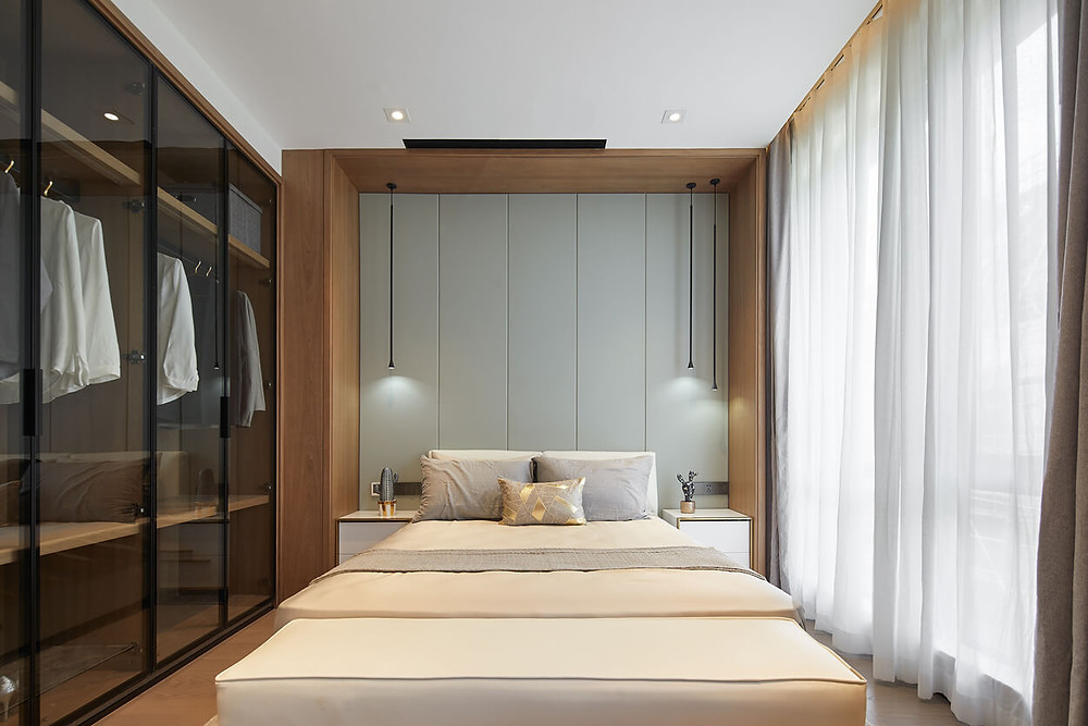 modern minimalist bedroom JEMO design
