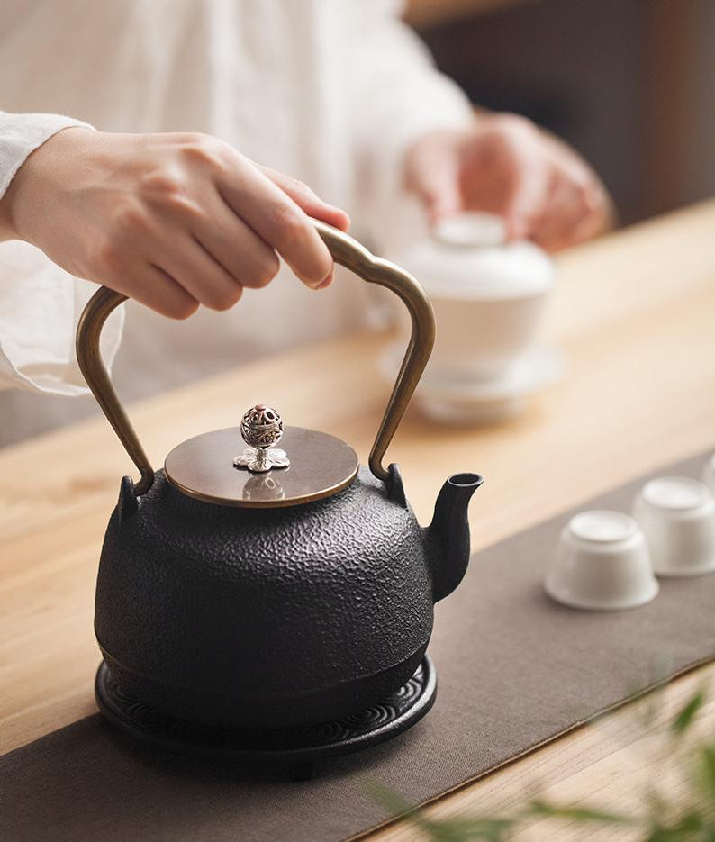 Japandi style tea kettle