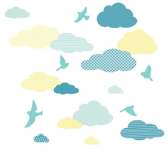 Cloud and Birds Wall Decals