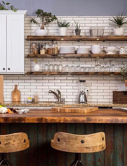 industrial rustic kitchen decor ideas