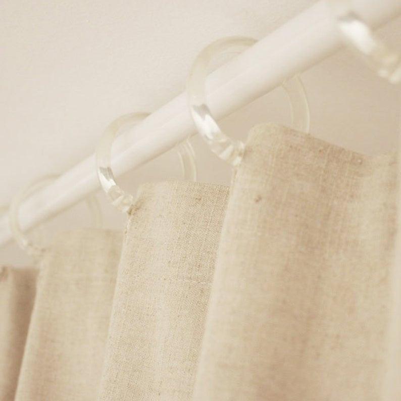 Spa bathroom - hemp shower curtain