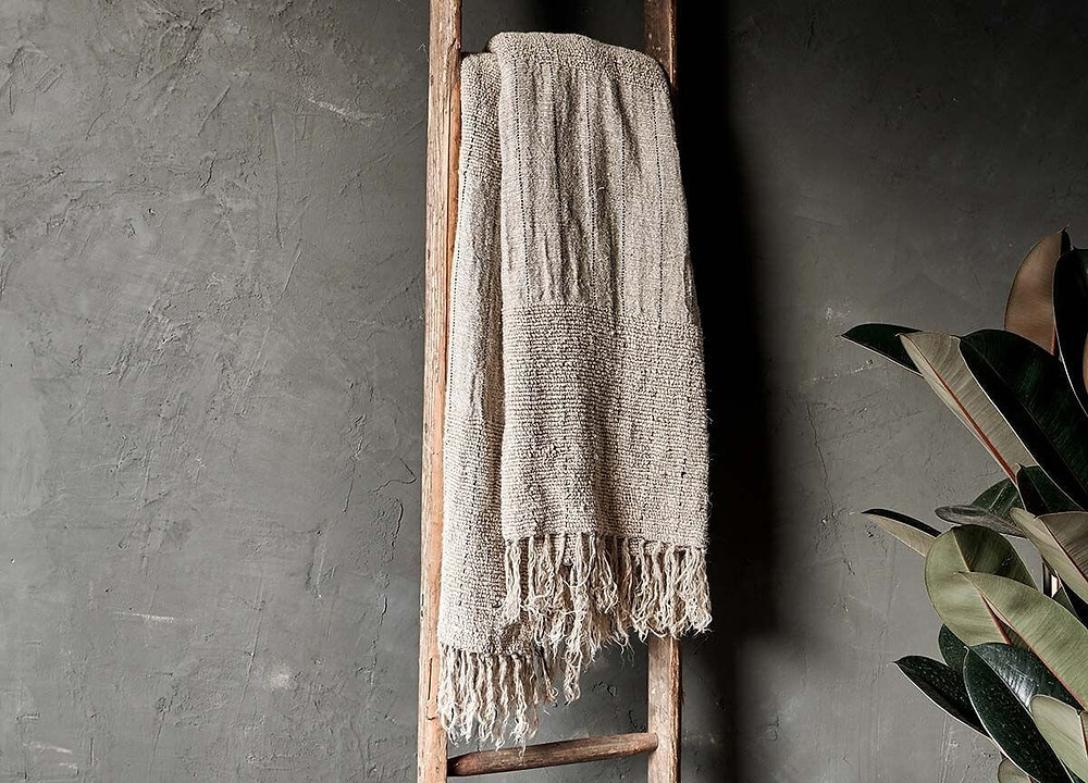 Handmade Eco Friendly Natural throw by Nkuku. Click on the image to shop directly from the maker.