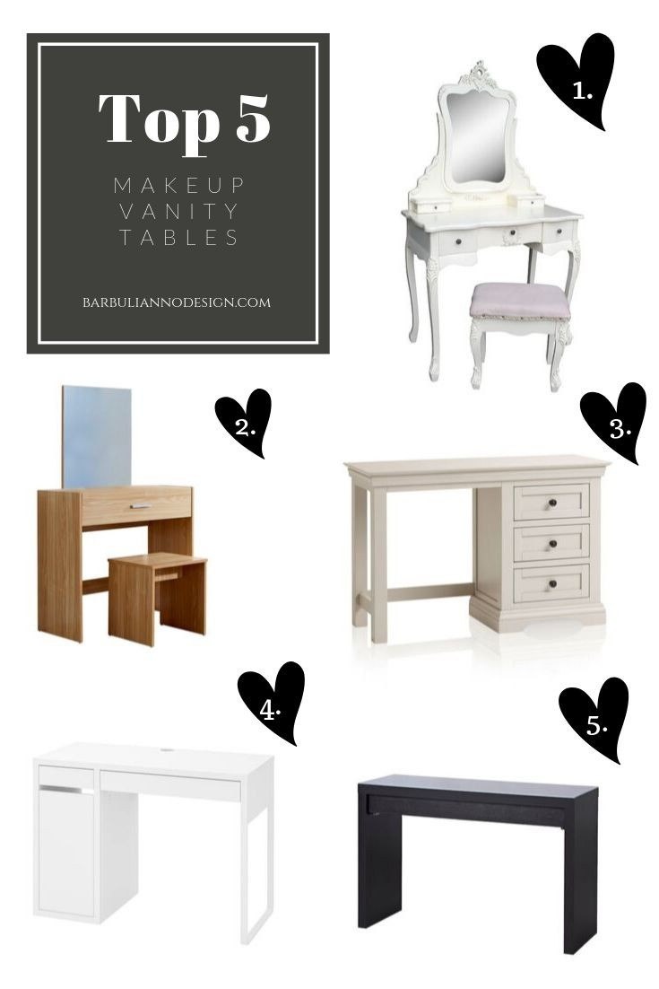 Makeup Vanity Ideas for small Spaces, Barbulianno