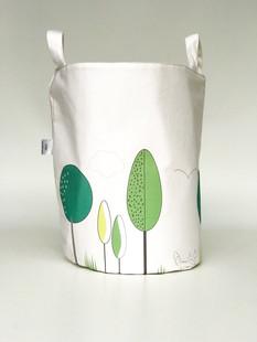Woodland nursery green trees basket