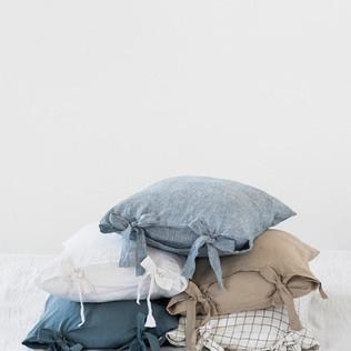 handmade natural linen pillow cover