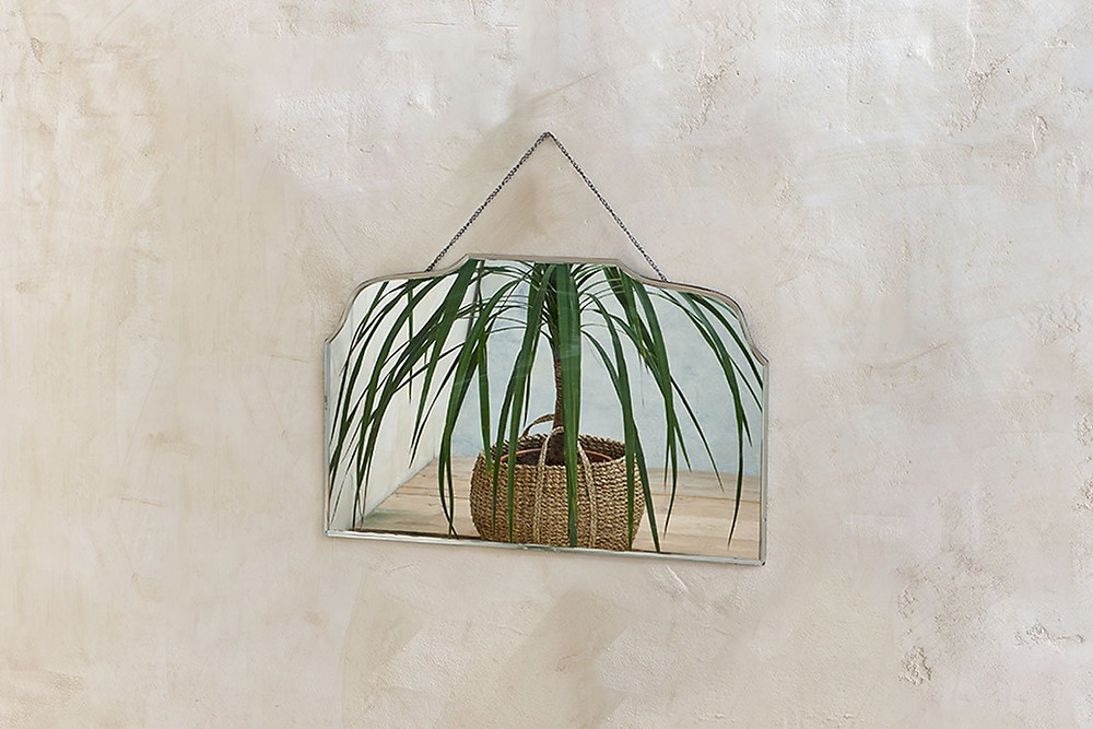 vintage rectangular mirror, for bathroom. Click on the image to shop directly from the maker on Nkuku