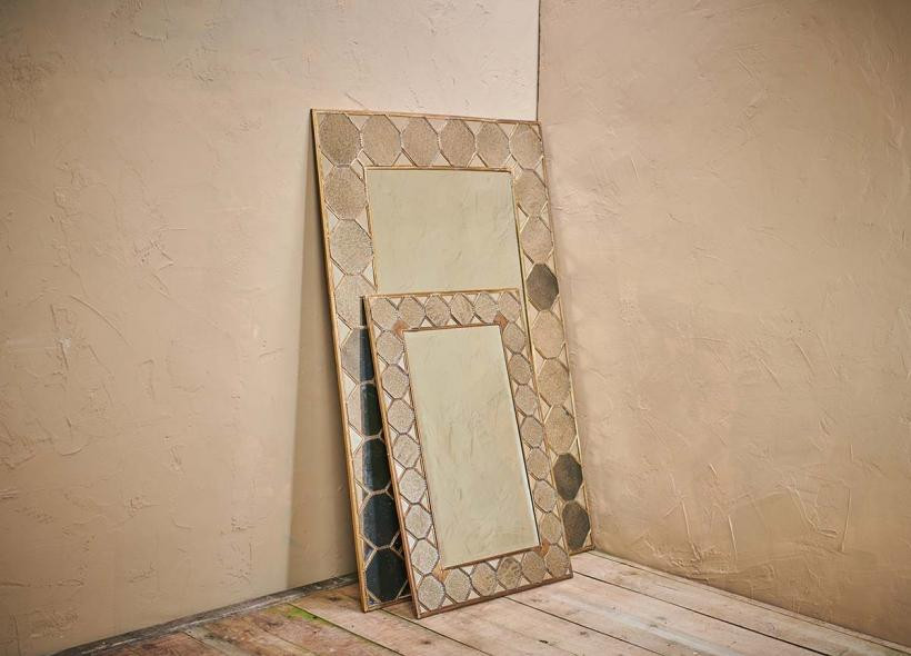 Full length brass bohemian mirror by Nkuku. Click on the image to shop directly from the maker.