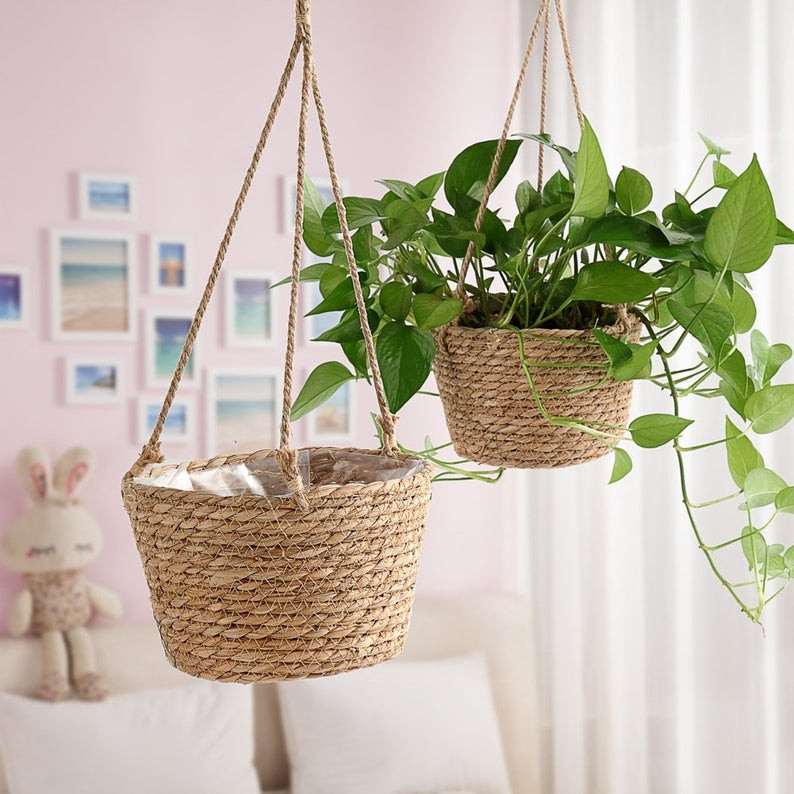 Wooden Hanging Planter. Click on the image to shop directly from the maker.