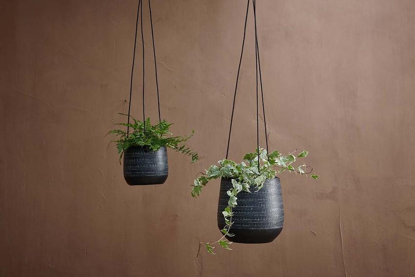 Black Minimalist Hanging Planter