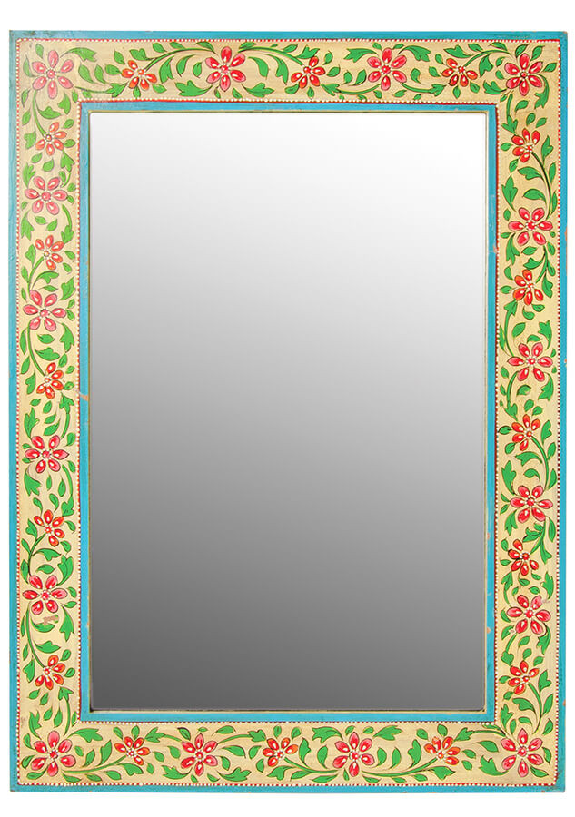 hand painted wooden wall mirror. Click on the image to shop directly from the maker