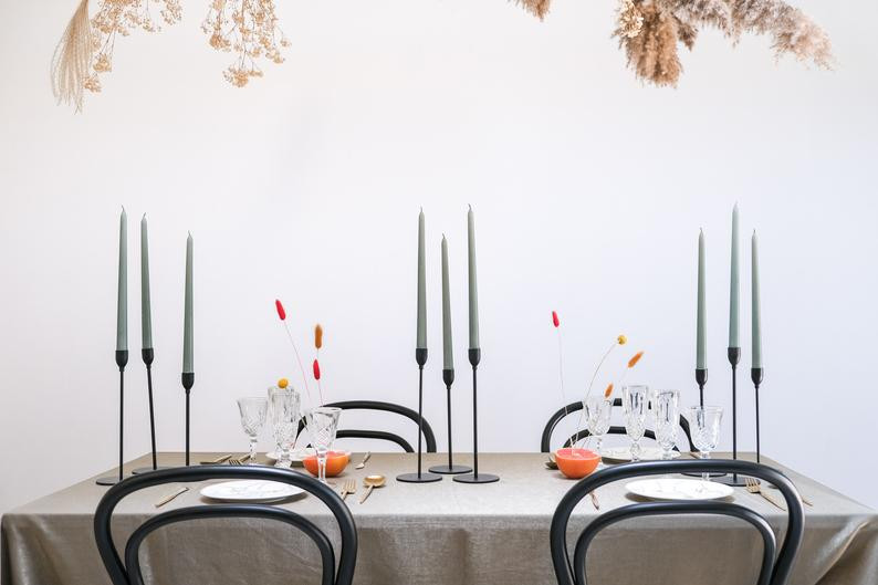 Candle sticks for autumn table decor