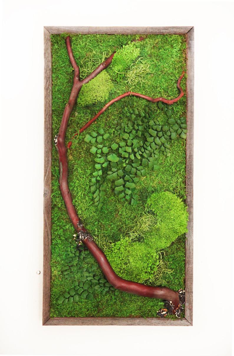 moss wall art handmade