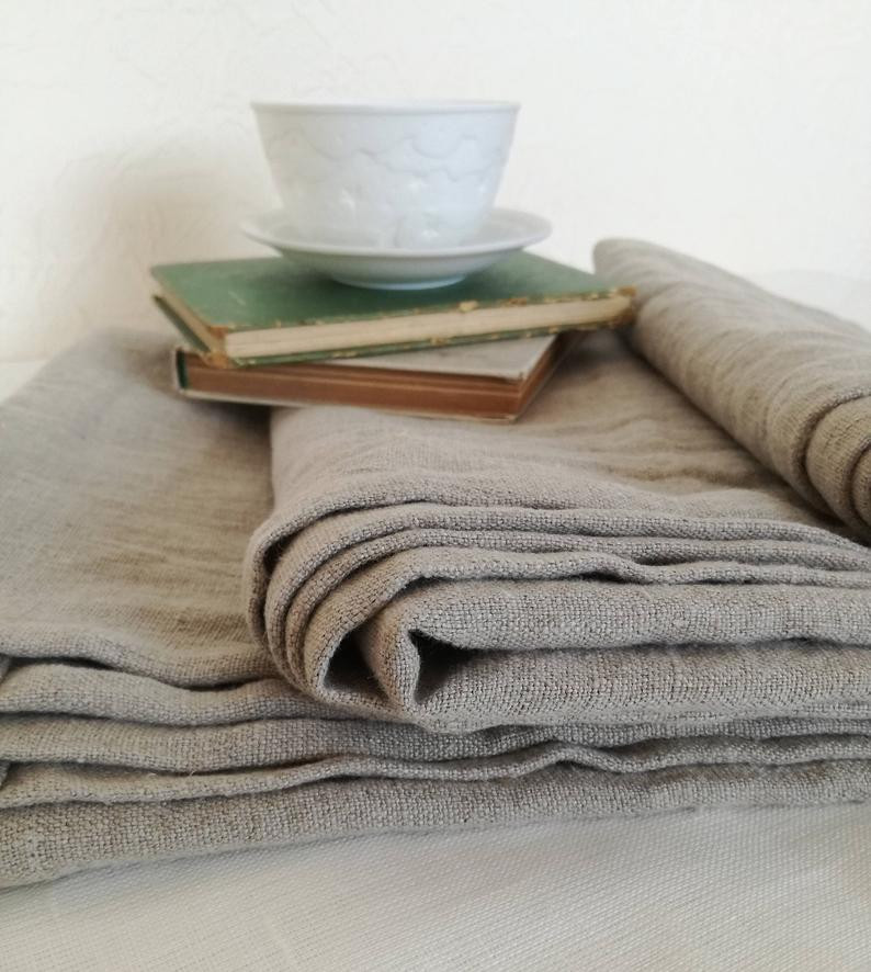 Softened Linen Throw Blanket - sustainable gift