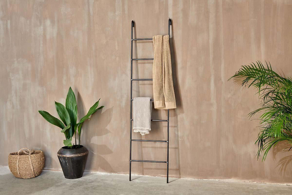 spa bathroom accessories - ladder tower rack