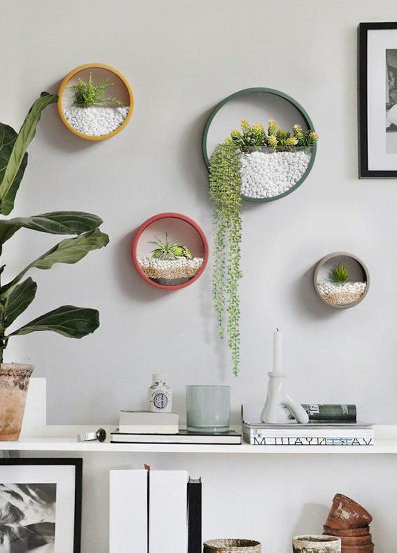 bright hanging planter decorating ideas