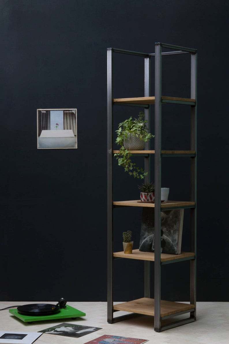 sustainable walnut plant stand for bathroom plants