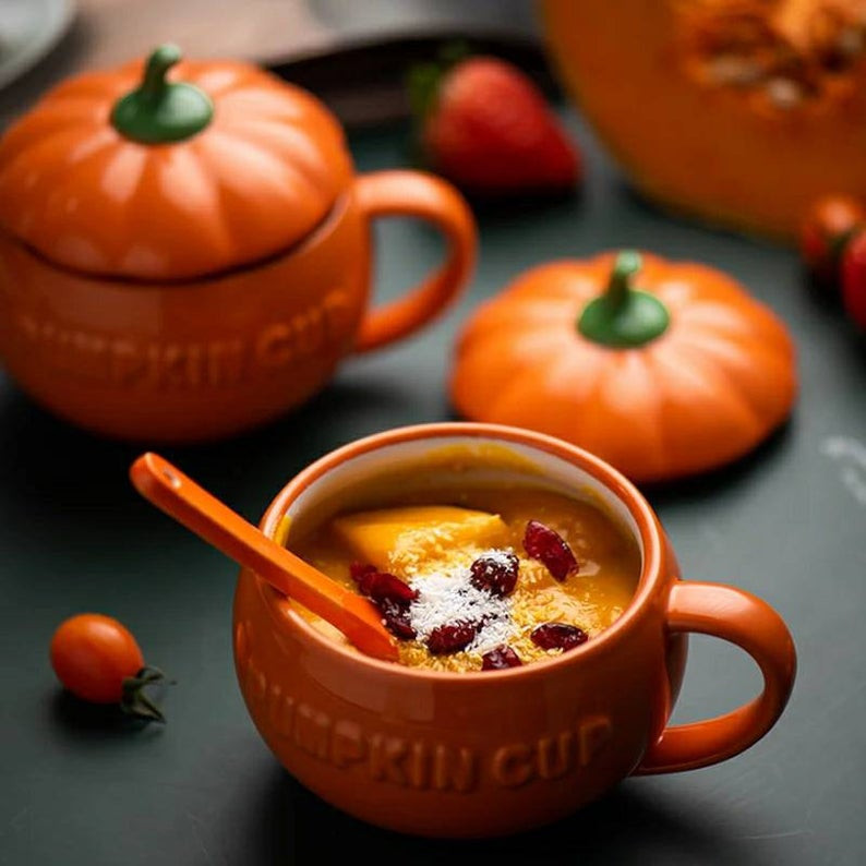 Handmade Cute Pumpkin coffee Mug