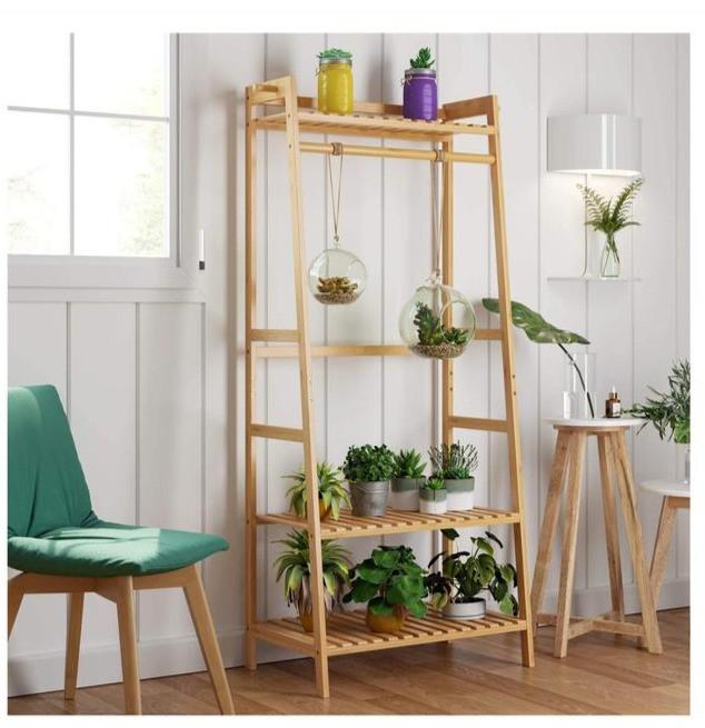handmade bamboo plant stand