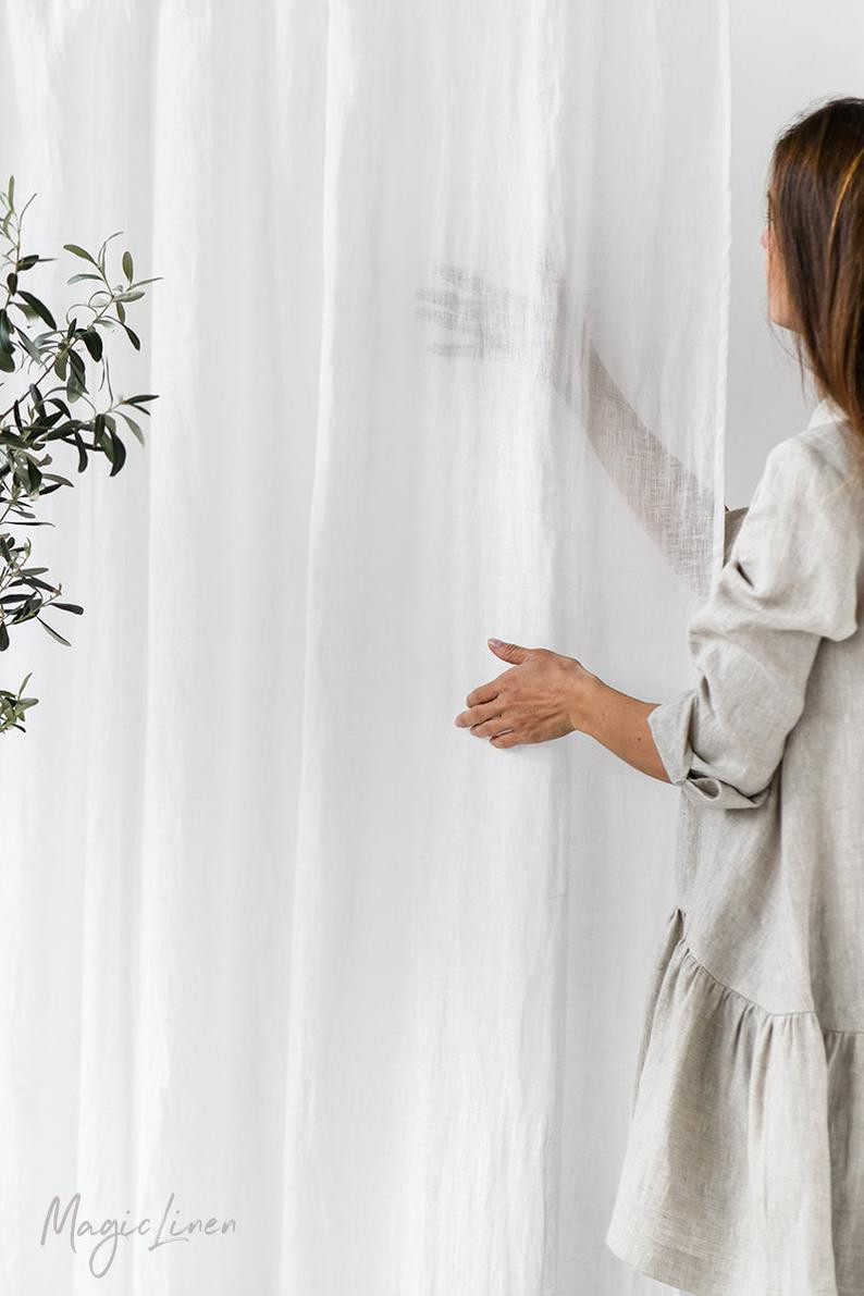 Linen Curtains by Magic Linen, Etsy