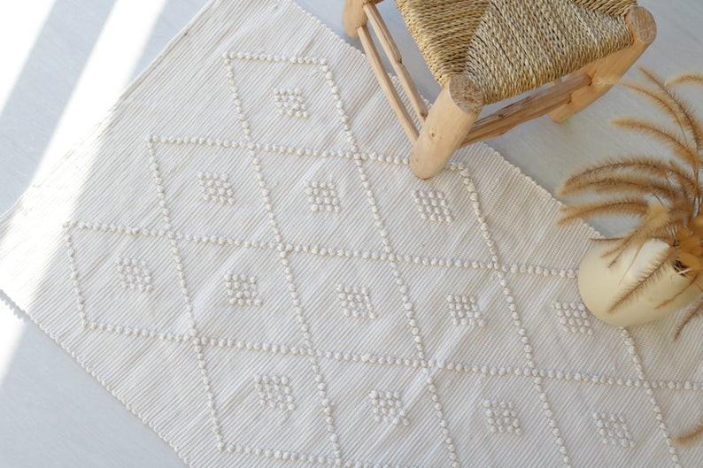 Spa bathroom accessories - cotton bathroom rug