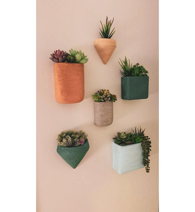 colourful bohemian ceramic wall planter Barbulianno