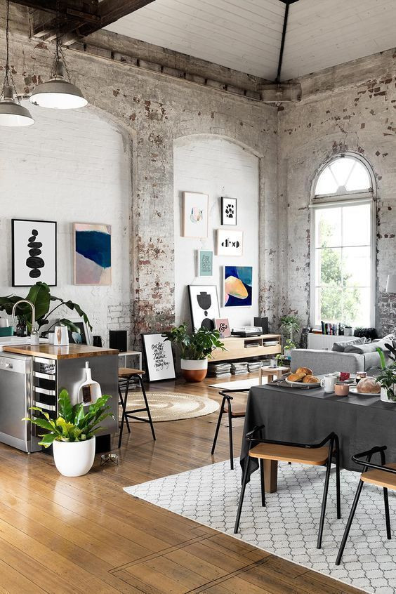 artwork in industrial style home