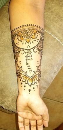 arm henna for mom
