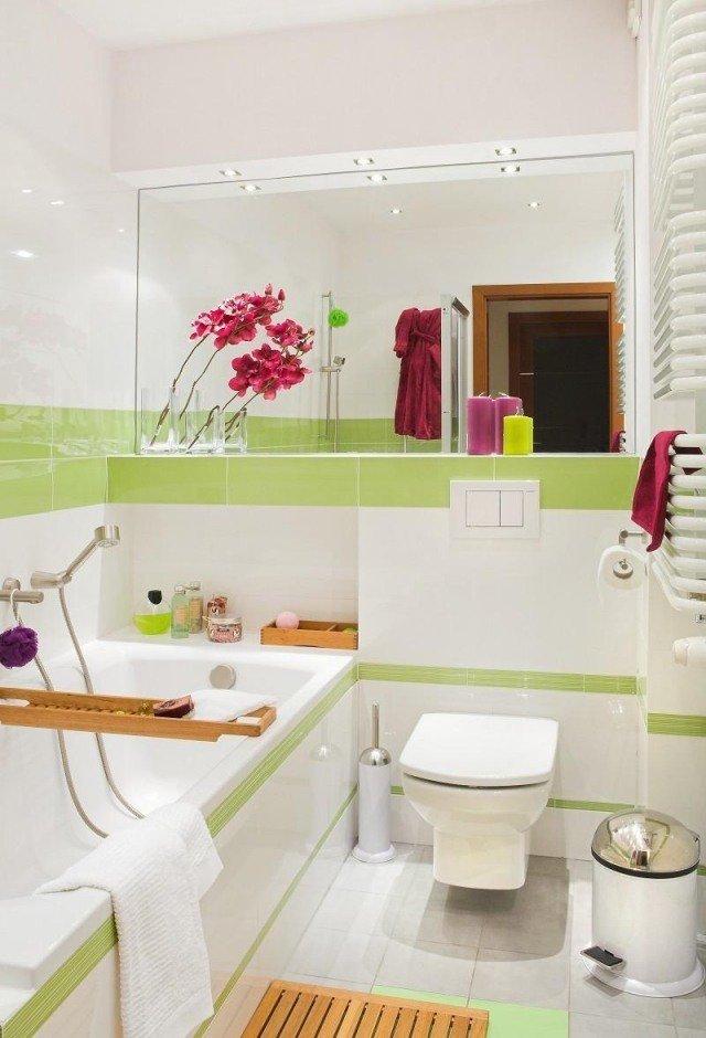 idées-pour-petite-salle-de-bain-accents-verts
