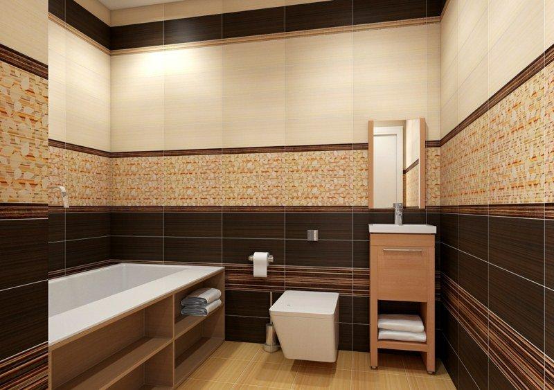 petite-salle-de-bains-baignoire-toilettes-sous-lavabo-revetement-mural
