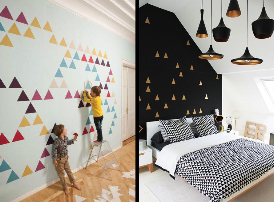 Réalisez Un Mur Géométrique Avec Des Triangles