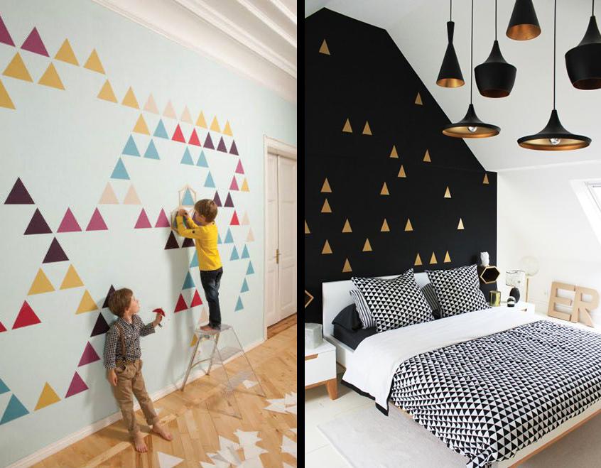 pochoir-peinture-mur-triangles-deco-scandinave-diy-draps