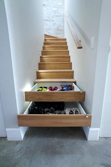 Marches escalier tiroir