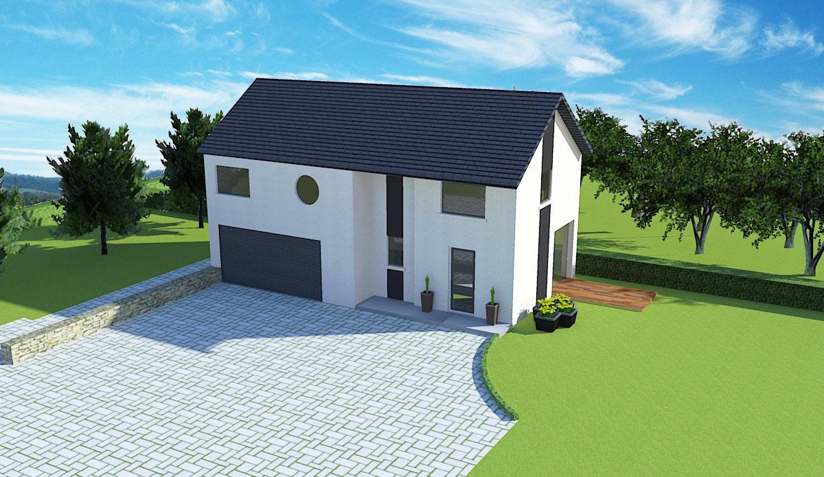 Plan permis de construire Bernay